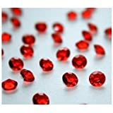 4000 Ruby Red Diamond Scatter Crystals Wedding Table Decoration by Wonderland Home