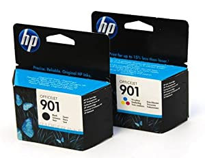 HP No.901 Ink Cartridge - Black/Colour (Pack of 2)