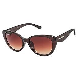 Chevera Voguish Brown Cat-Eye Sunglasses