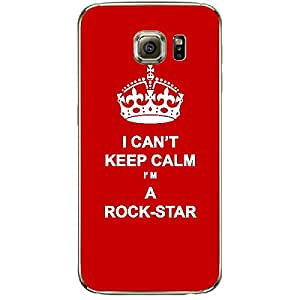 Skin4gadgets I CAN'T KEEP CALM I'm A ROCK-STAR - Colour - Red Phone Skin for SAMSUNG GALAXY S6 EDGE PLUS