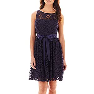 Amazon.com : Simply Liliana Sleeveless Lace Fit-and-Flare Dress