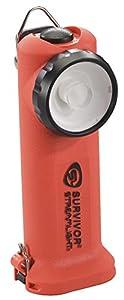 Streamlight 90540 Survivor 6-3/4-Inch LED Flashlight, Right Angle Light, Orange