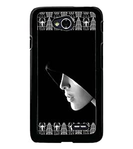 PrintDhaba Girl In Shade D-4093 Back Case Cover for LG L70 (Multi-Coloured)