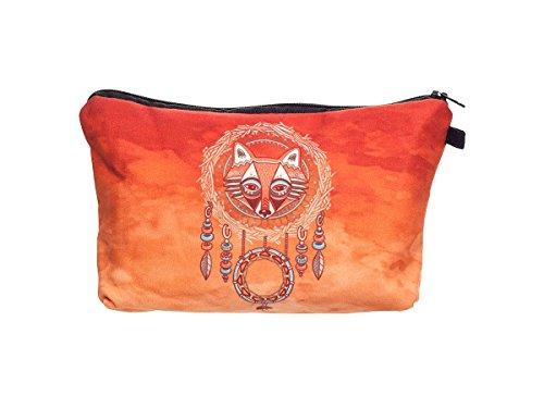 Beauty Case, borsa da viaggio, borsetta da toilette sacco sacchetto bagno per cosmetici trucco make up motivi diversi, Kosmetiktasche KT-002-050:KT-032 falco acchiappasogni