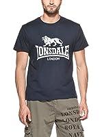 Lonsdale Camiseta Manga Corta Logo (Azul)