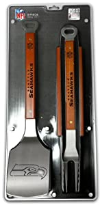 SPORTULA 3-PIECE BBQ SET - SEATTLE SEAHAWKS by SPORTULA PRODUCTS