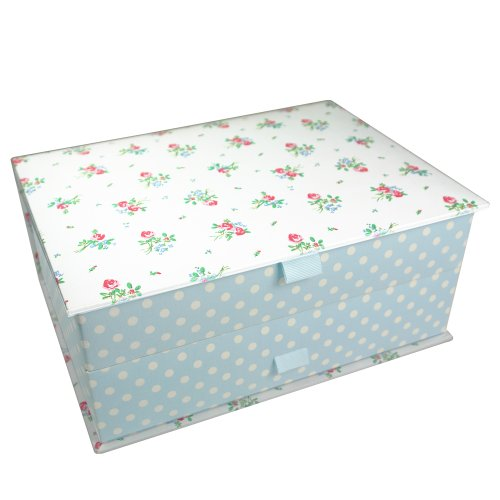 Boutique Daisy Jewellery Box In Floral Cotton Fabric