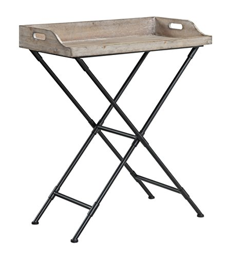Convenience Concepts Wyoming Folding Serving Bar Table, Antique Wooden Tray (Antique Tv Trays compare prices)
