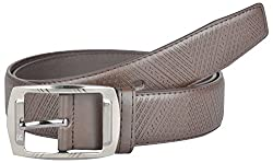Kalewensen Men's Synthetic Belt (Brown, 114 cm )