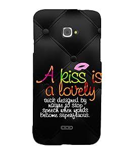 KISS QUOTE Designer Back Case Cover for Infocus M350