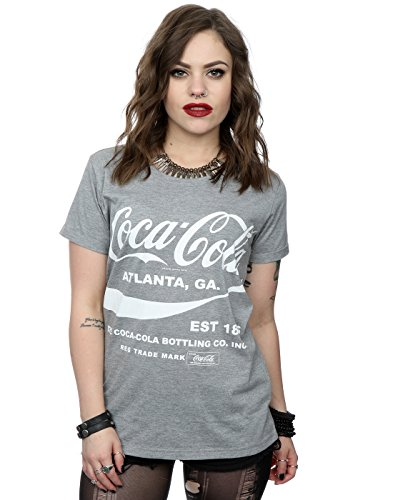 [Coca Cola Women's Drink 1886 Roll Sleeve T-Shirt Medium Grey Marl] (Coca Cola Dress)