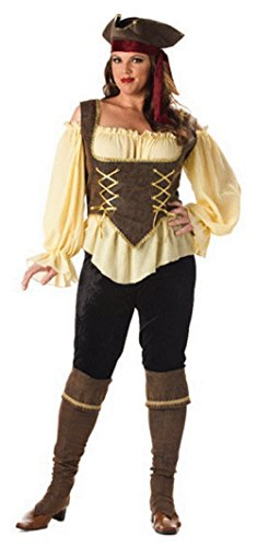 Rustic Pirate Lady Costume - Plus size Costume