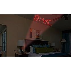 iMounTEK Multi Function Digital Talking Projection Alarm Clock With Temperature Display