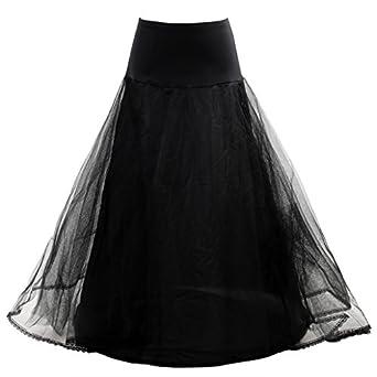 HIMRY Design Jupon de Qualité avec une cerceau, 1 cerceau, 2 Couches, avec lacet, Taille Unique, Adéquat pour Taille XS, Taille S, Taille M, Taille L, Taille XL, Taille XXL, Nior, KXB-0019 Black
