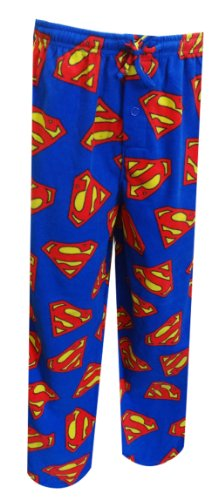 Superman Men's Basic Shields Microfleece Pant, Multi, Small (Superman Pants compare prices)