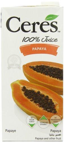 Ceres Papaya 100 Percent Fruit Juice 1 L (Pack of 12)