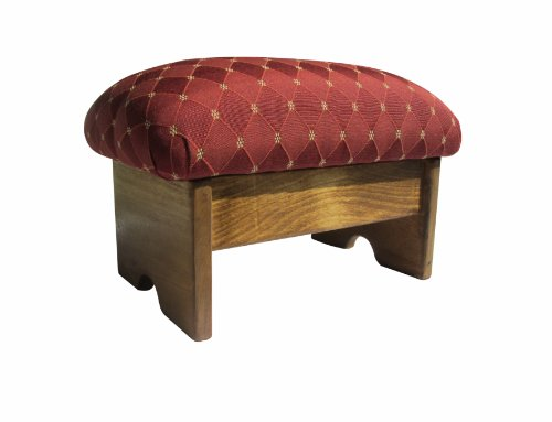 Padded Foot Stool Rococo Red 9
