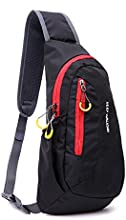 WOTOW Water Resistant Outdoor Chest Pack Shoulder Backpack Crossbody Sling Bag with Adjustable Strap