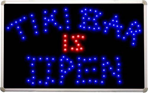 Led042 Tiki Bar Is Open Led Neon Light Sign