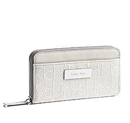 Calvin Klein Womens Candice Lurex Zip Continental Signature Wallet