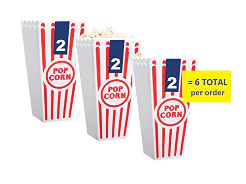 [Individual Popcorn Tubs for Movie Nights, Set of 6] (Homemade Character Costumes Ideas)
