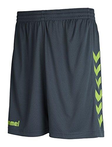 Hummel Core - Pantaloncini da uomo in poliestere, Uomo, Core Poly Shorts, Dark Slate/Green Flash, S
