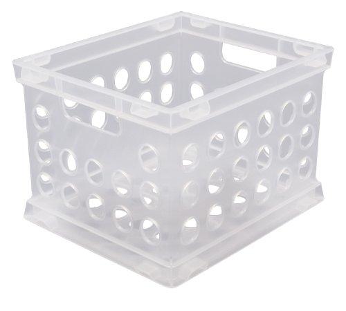 Sterilite 16958612 Mini Crate, Clear, 12-Pack (Sterilite Modular System compare prices)