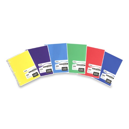 Mead Spiral Bound Notebook, College Rule, 81/2 x 11, Assorted colors, 100 Sheets/Pad (06622) Picture