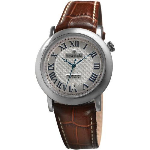 Dreyfuss DGS00030/21 Automatic Stainless Steel Case Brown Calfskin Mineral Men's Watch