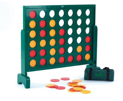 Garden-Games-517-Jumbo-4-riesen-gewinnt-Holzspiel-75-cm-hoch-grn
