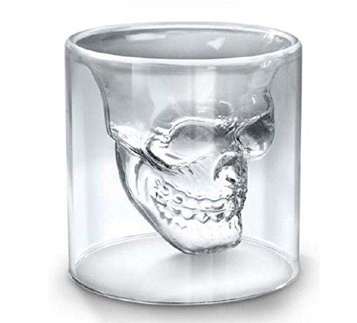 Uniqstore Lot de 6 verres à shooter en forme de crâne