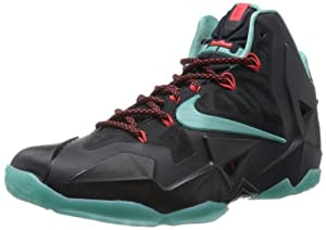 NIKE LeBron 11 Men's Basketball Shoe, Black/Blue, US9.5