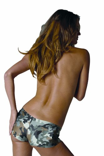 Womens LG (8-10)- Camo Fun Buns Hot Pants