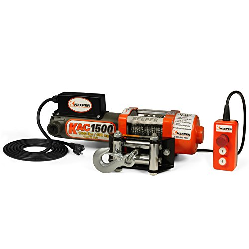 Keeper Kac1500 110 120v Ac Electric Winch With Hand Held