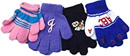 Four Pairs of Magic Stress Gloves for Infants Ages 0-3 Years