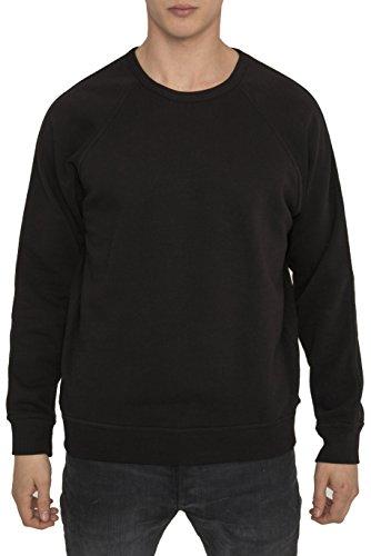 Da Uomo Designer Casual Luxe Sport Tinta Unita Sweatshirt Nero Cotone di Alta Qualità Modern Regular Fit - Felpa Nera con Manica Lunga e Girocollo Abbigliamento Basic e Trendy Essenziale Da Uomo M