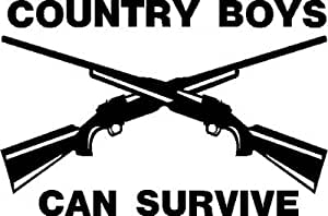 Amazon.com: Country Boys Can Survive Decal, Decal Sticker ...