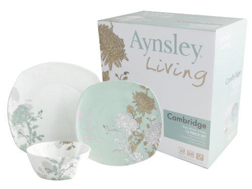 Aynsley 12 Piece Bone China Cambridge Dinnerware Set, Deals