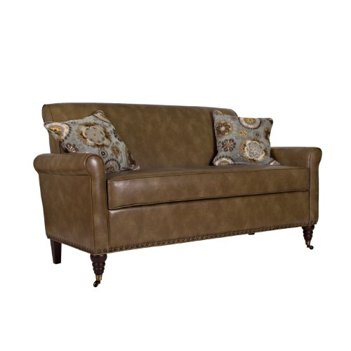 angelo:HOME Harlow Sofa in Milk Chocolate, Brown Renu Leather