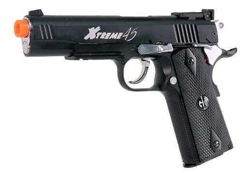 Gg Armament Xtreme 45 Co2 Airsoft Pistol Black by G&G Armament