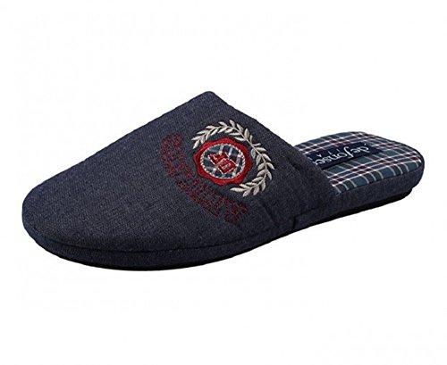 DE FONSECA pantofole ciabatte da uomo in cotone mod. REBEL 63 blu scuro (44/45)