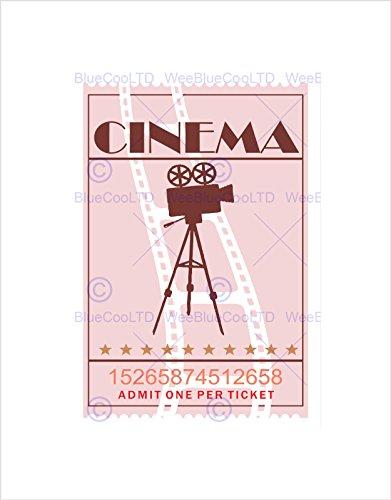 VINTAGE RETRO CINEMA MOVIE THEATRE TICKET BLACK FRAMED ART PRINT B12X14034 (Movie Ticket Photo Frame compare prices)