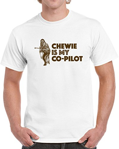 chewie-is-my-co-pilot-exclusive-quality-t-shirt-for-herren-2xl-shirt