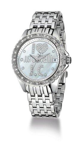 Just Cavalli R7253167545 - Orologio da polso da donna, cinturino in acciaio inox colore argento