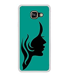 Girl Face 2D Hard Polycarbonate Designer Back Case Cover for Samsung Galaxy A3 (2016) :: Samsung Galaxy A3 2016 Duos :: Samsung Galaxy A3 2016 A310F A310M A310Y :: Samsung Galaxy A3 A310 2016 Edition