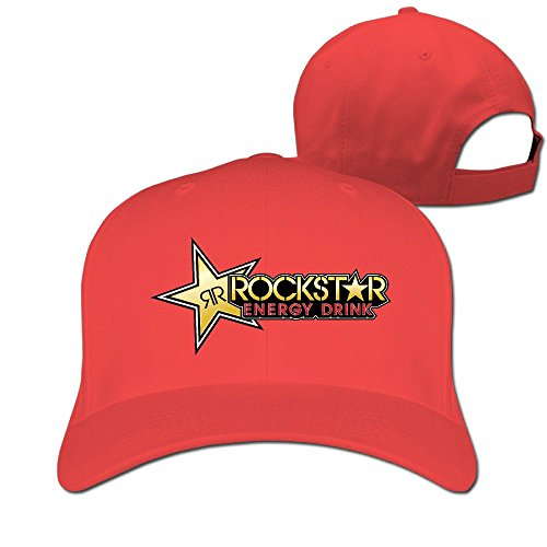 Cool Rockstar Adjustable Peaked Caps Red (Rockstar Energy Drink Shorts compare prices)