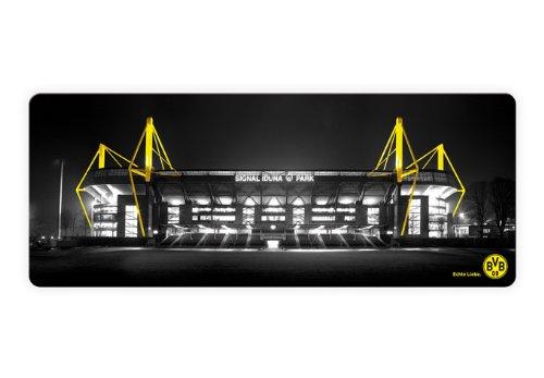 Glasbild – BVB – Signal Iduna Park schwarz/gelb – 100×40 cm – mit abgerundeten Ecken – 3D Optik GA1188