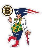 """BOSTON Fan Sport Flag Logo 4""""x4"""" Sticker Decal Vinyl Bruins Patriots Celtics Red Sox"""