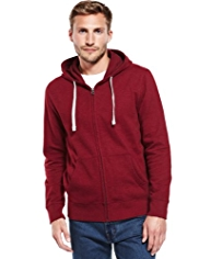 Hooded Zip Through Sweat Top