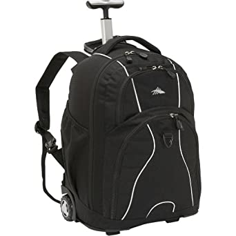 High Sierra Freewheel Wheeled Book Bag Backpack by High Sierra